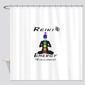 Reiki Energy all connected Shower Curtain